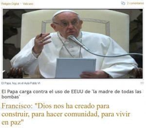 El Papa insistente