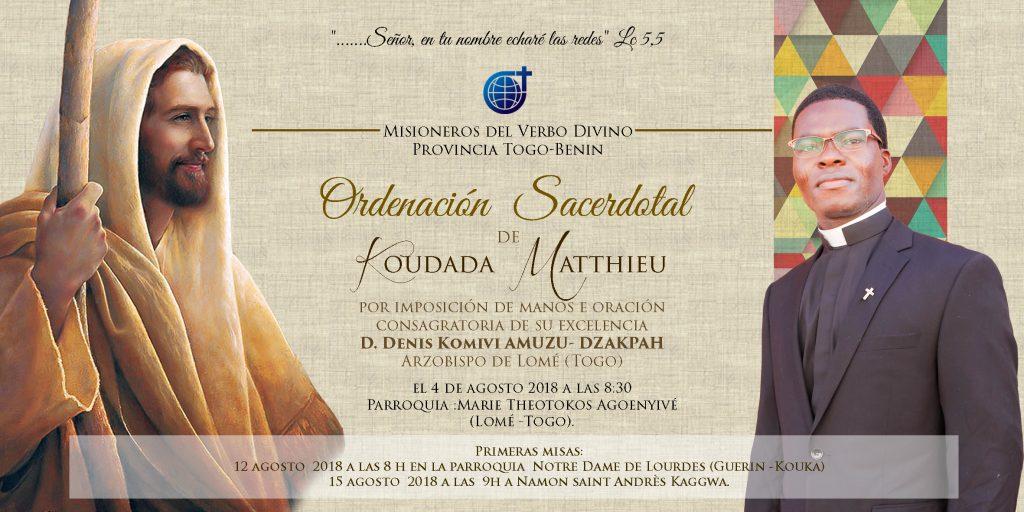 Mateo Ordinación español 10X20