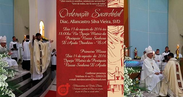 Allancastro Silva Vieira se ordena sacerdote
