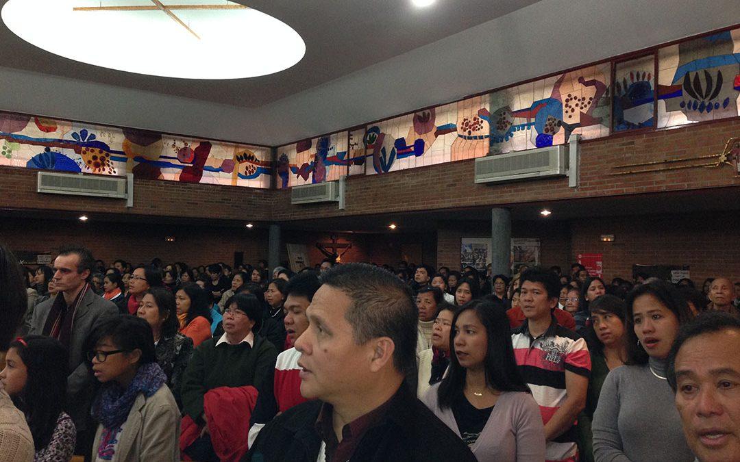 La Capellanía Filipina, en Madrid, reza por las víctimas del tifón en Filipinas