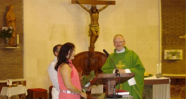 El Padre Mirek celebra sus bodas de plata sacerdotales