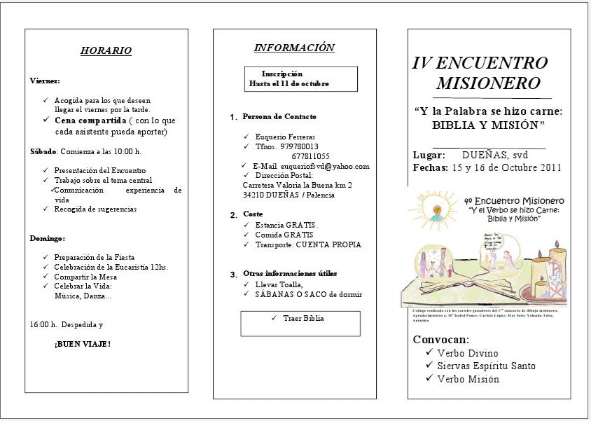 Invitados a Dueñas: Gran Encuentro Misionero