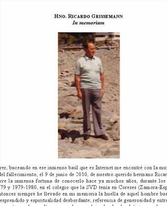 Hermano Ricardo – In Memoriam