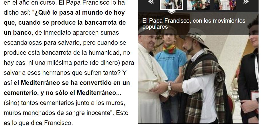 Euquerio Ferreras no quiere que olvidemos a Francisco