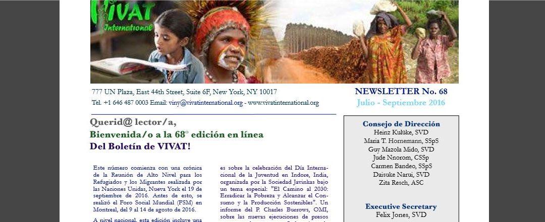 Vivat International: boletín en español para tocarnos más eficazmente