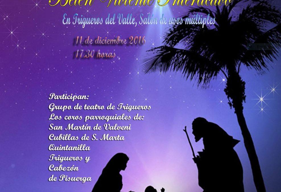 Desde Adviento hacia la Navidad un Belén Viviente con 5 Coros de 5 parroquias, en Trigueros del Valle