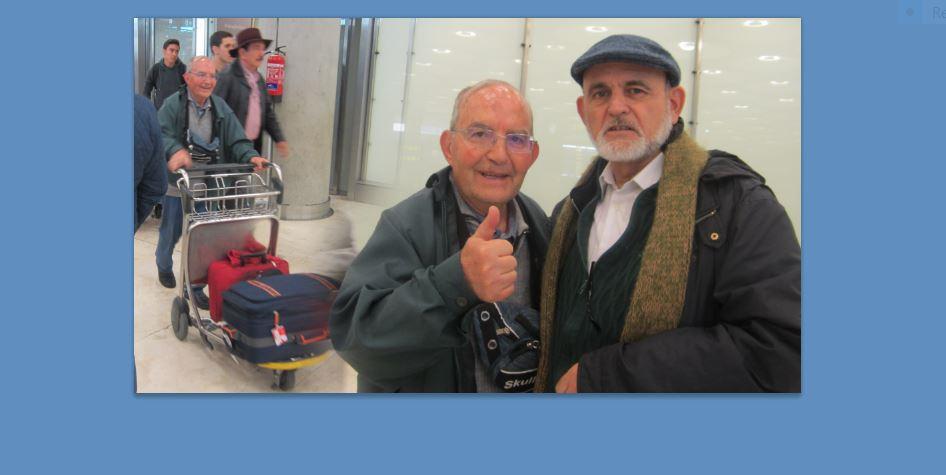 Con Andrés, que ya está llegando, retornando a Bolivia