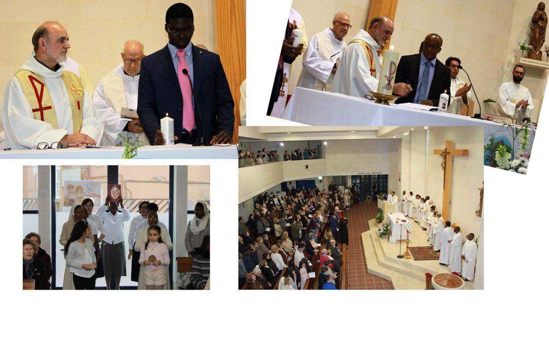 Fiesta de SVD con la profesión de votos de Mateo y Cyriaco