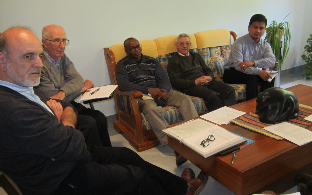 En la Casa de Espiritualidad de Dueñas, hoy  1/5 inmejorable primer momento de la mañana en la Asamblea Provincial SVD