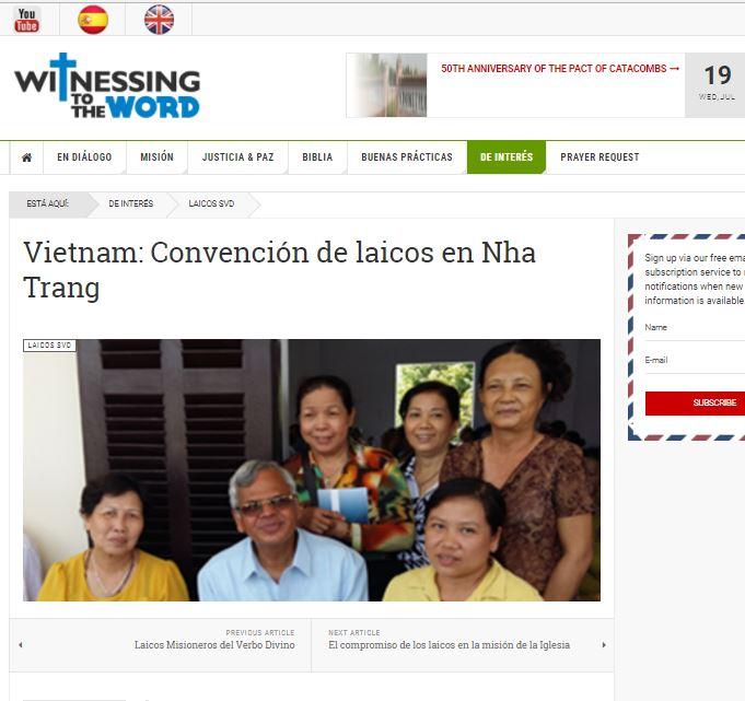 Vietnam: Convención de los Laicos SVD en Nha Trang