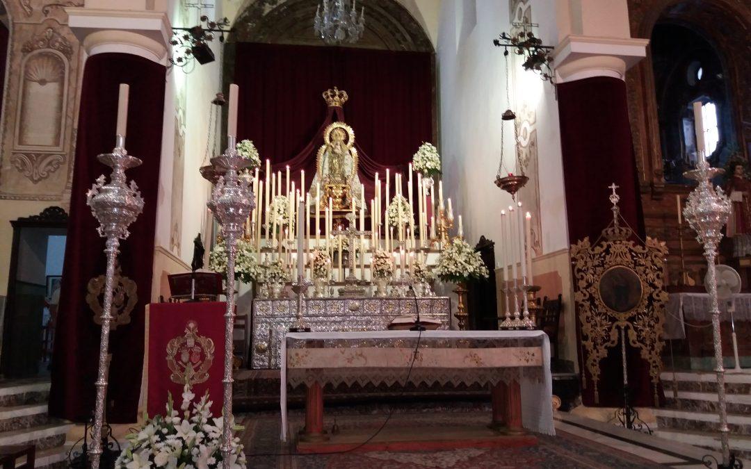 A las 13 horas, celebrando a San Lorenzo en El Escorial; en Villarrasa, listos en la parroquia SVD con la Novena de la Virgen de los Remedios, la Patrona