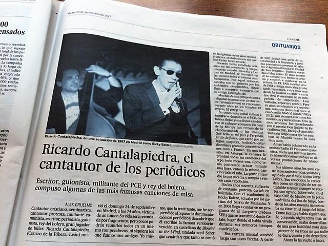 José Santos Miguélez, que no se pierde una gran noticia
