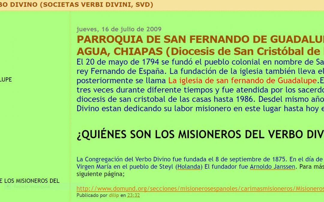 Terremoto en Chiapas: Presencia SVD y noticia en EL PAÍS