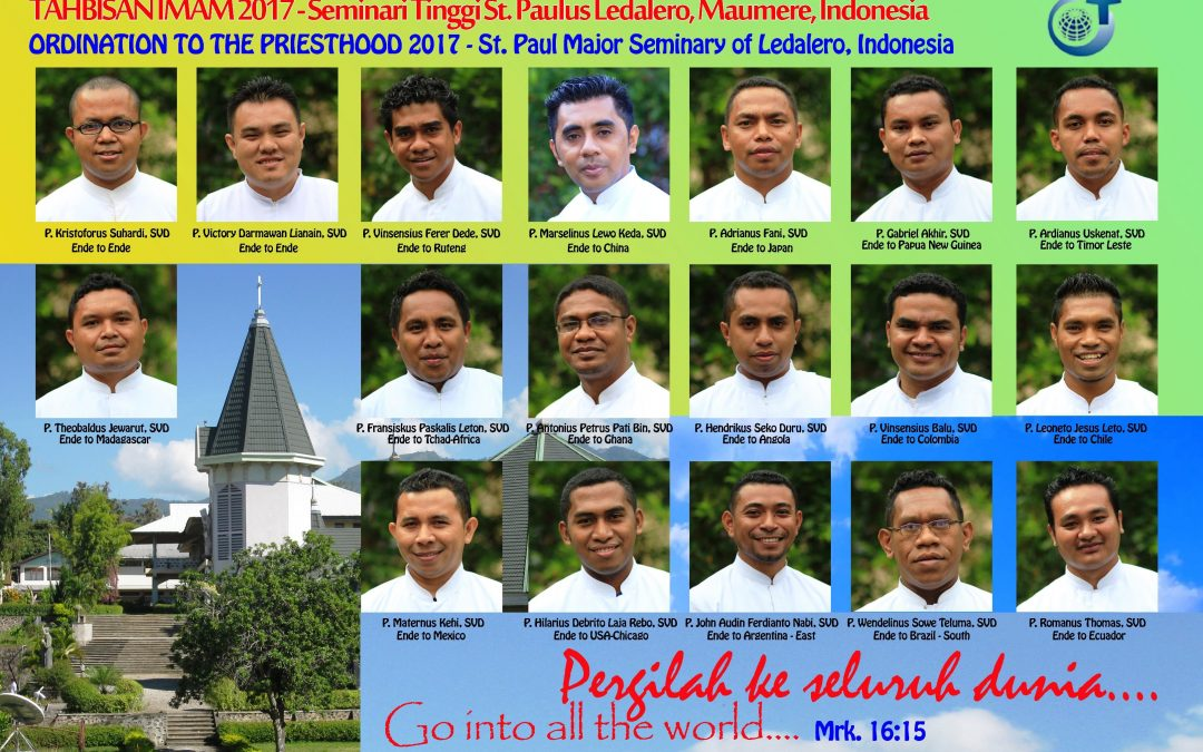 Ordenaciones sacerdotales SVD: en Indonesia ellos, ese número de nuevos misioneros estrenando destinos, enviados