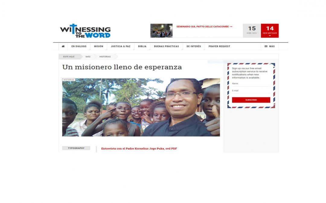Misionero lleno… Kornelius Jogo Puka SVD