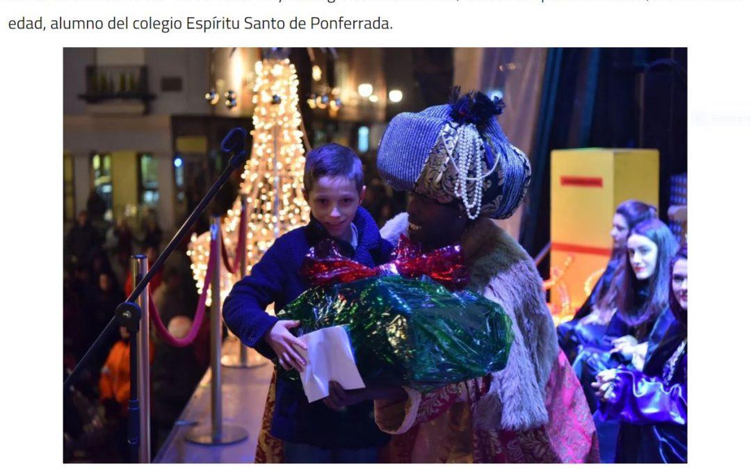 Con una carta de nuestra familia, los Reyes Magos en Ponferrada
