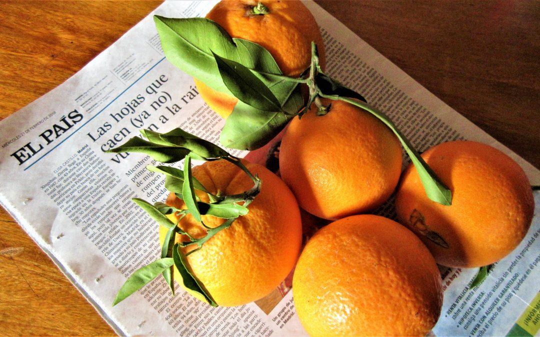 El País informa de Usera y los chinos; las naranjas nos llegan mientras leemos: 2 nobles gozos