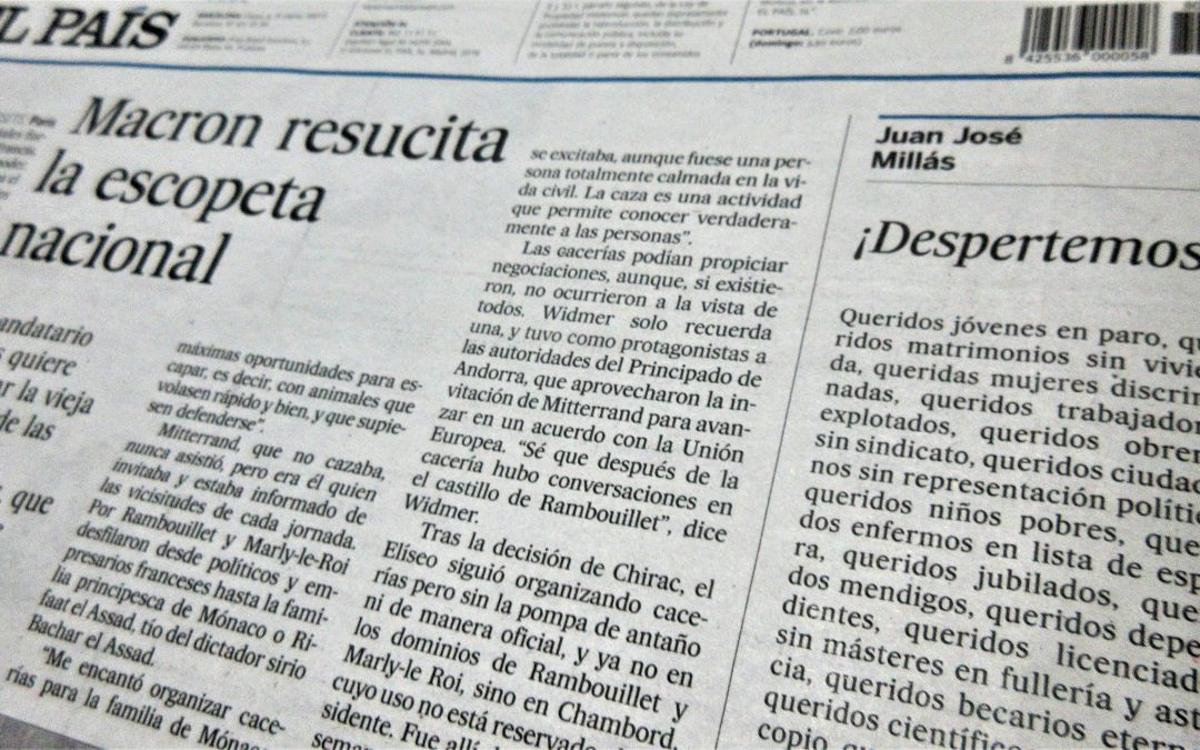 Juan José Millás, fijo en El País, y qué Firma