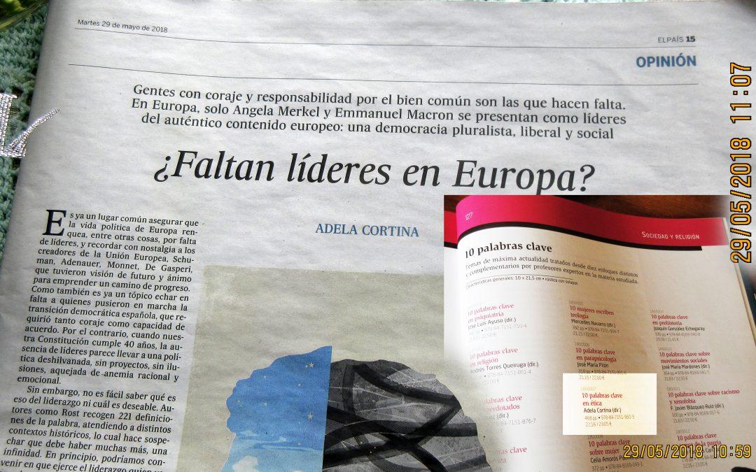 El gozo de vincular EVD y El País con el nombre, hoy, de Adela Cortina