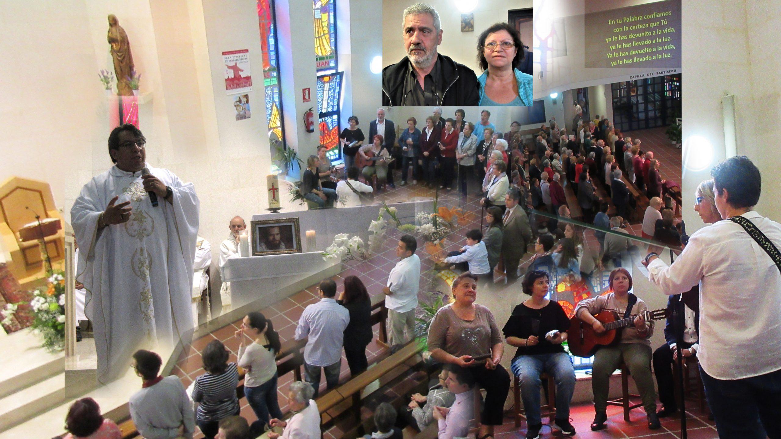 Con México (Chava) en Altagracia Madrid, funeral