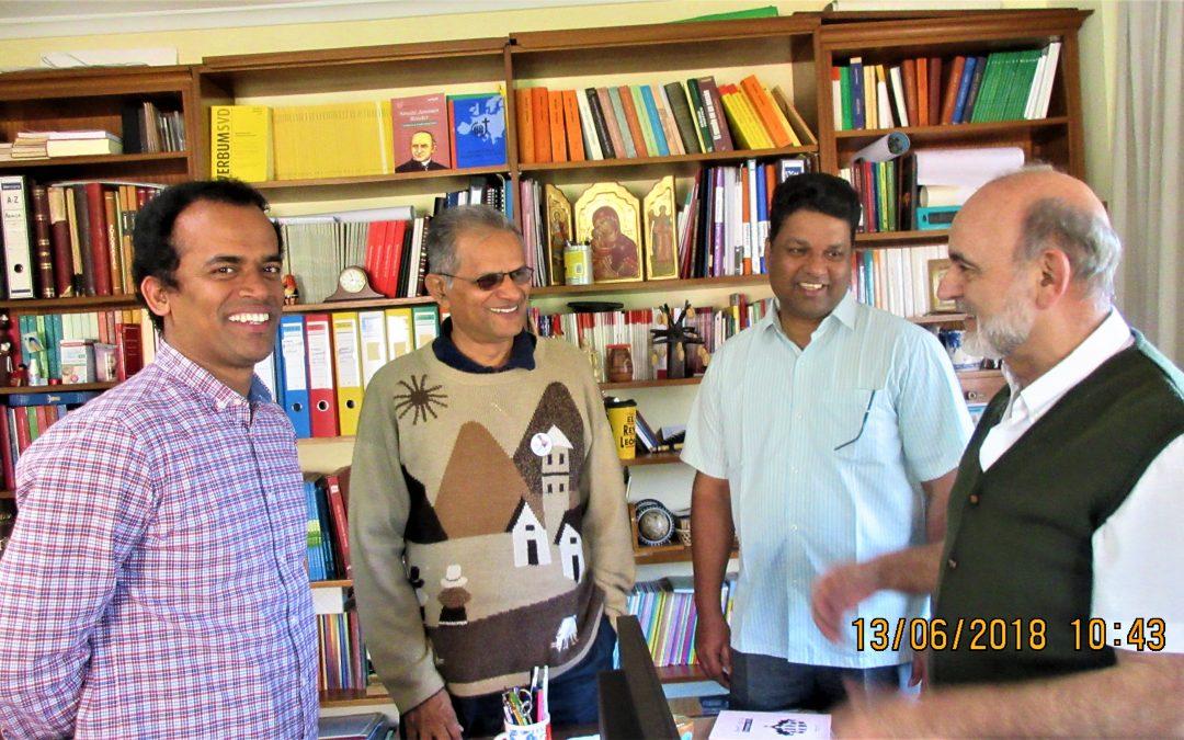 Richard Mathias y Richard Quadros, de India por España y Manos Unidas, al Capítulo General