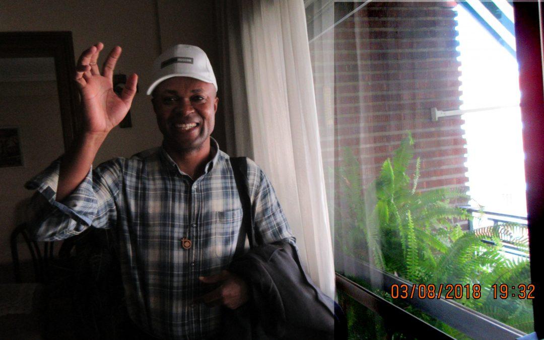 Adiós, Ange-Albert, grande es el reto en tu misión, Congo
