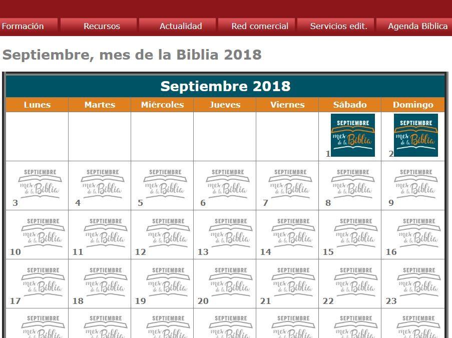 Septiembre, el mes de la Biblia… El mes de EVD