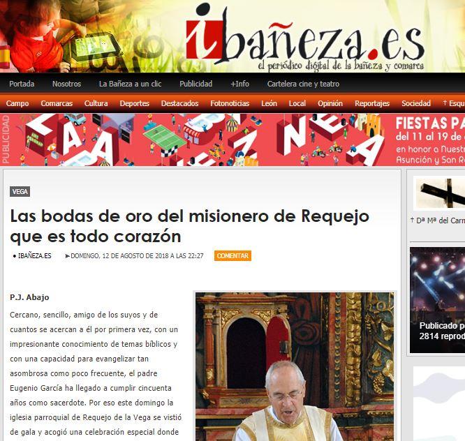 Eugenio García: …es todo corazón, escribe P. J. Abajo