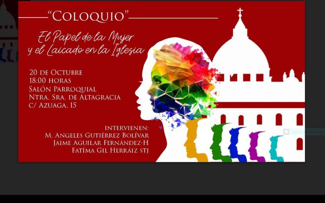 Coloquio para laicos, gran ocasión para que se conozcan todas nuestras amigas y amigos. Gracias, Jeeva