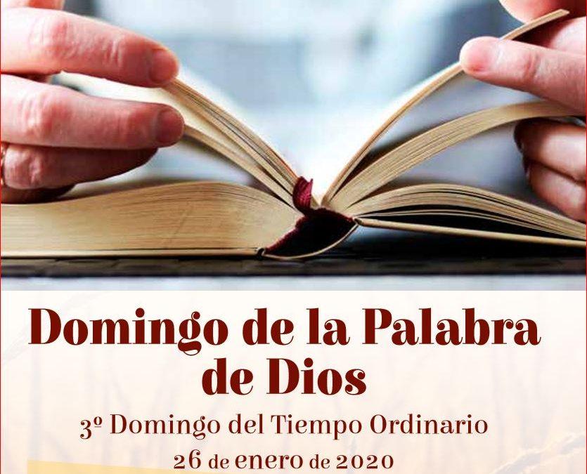 """26 DE ENERO """"DOMINGO DE LA PALABRA DE DIOS""""  EVD nos oferece materiales para la celebración"""